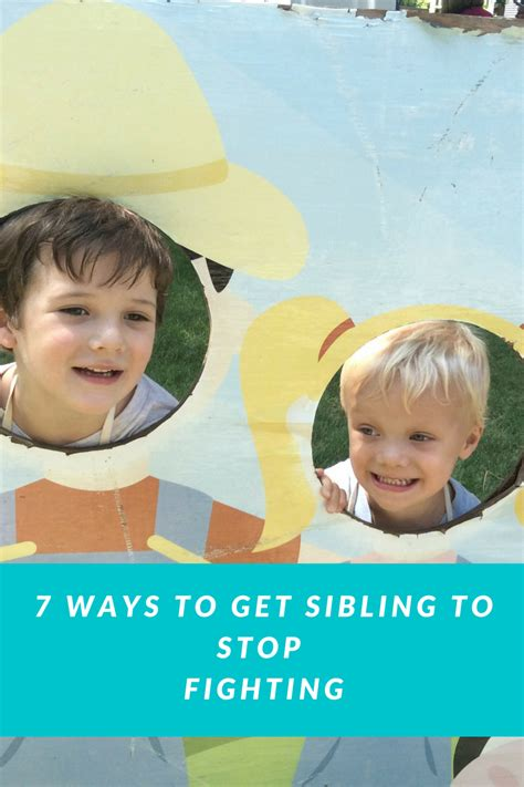 7 Ways To Get Siblings To Stop Fighting  Moms Are Frugal