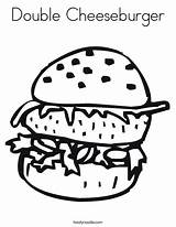 Coloring Cheeseburger Worksheet Double Burger Patty Krabby Template Pages Fries Dog Sheet Cook Hamburger Printable Outline Ate Taco Cursive Handwriting sketch template
