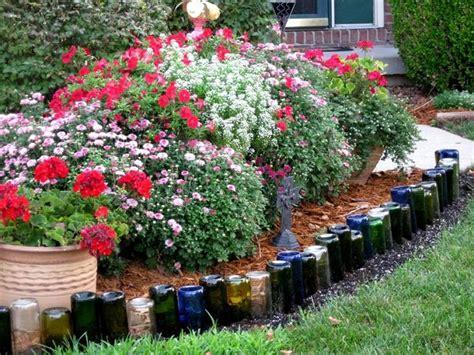 wine bottle garden diy wine bottle ideas for the garden 26 wine bottle uses
