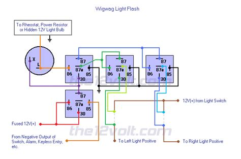 Wig Wag Flasher Relay Wiring Diagram by Wigwag Lights Negative Input Positive Output