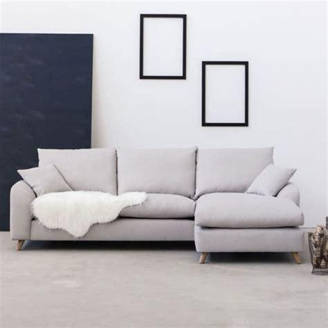 canapé d angle tissus canapé d angle en tissu l 265 nordic living beige