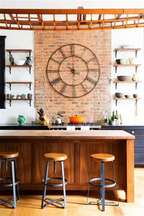 le murale cuisine la grande horloge murale en photos archzine fr