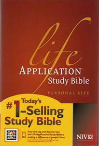 niv life application study bible lovechristianbookscom With niv study bible personal size paperback red letter edition