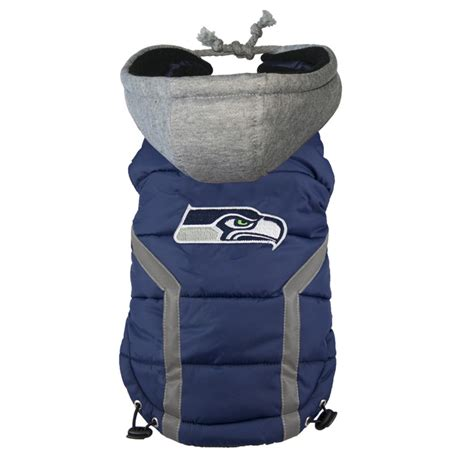 seattle seahawks dog puffer vest   day shipping