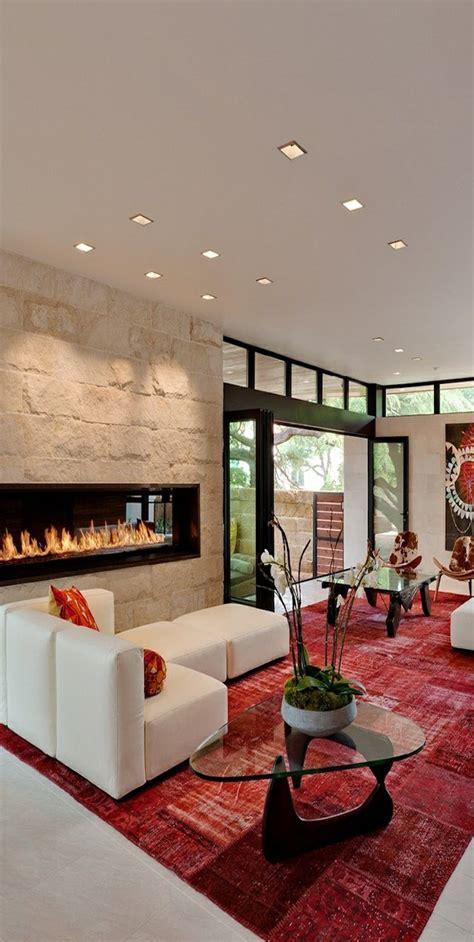 roter teppich wohnzimmer kamin einbauen eine funkzionelle entscheidung archzine net