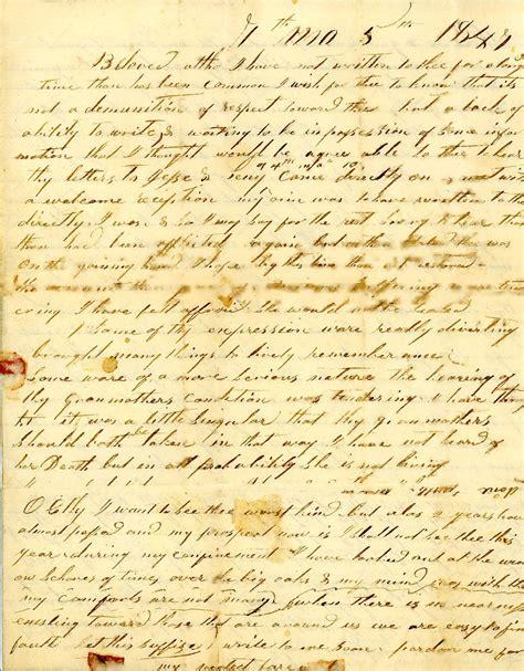 antique letter la maison boheme  original text