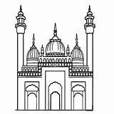 Mosque Masjid Colouring Gambar Mewarnai Clipart Coloring Api Unggun Kartun Pngwave Webstockreview Ratulangi Cliparts sketch template