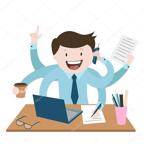 Office Worker Is Very Busy , The Best Worker, A Lot Of