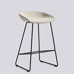 Tabouret De Bar Acier : tabouret de bar about a stool aas39 acier et tissu hay ~ Teatrodelosmanantiales.com Idées de Décoration