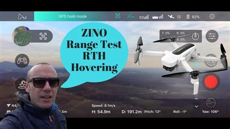 hubsan zino range test rth hovering  nuovo firmware davvero niente male youtube