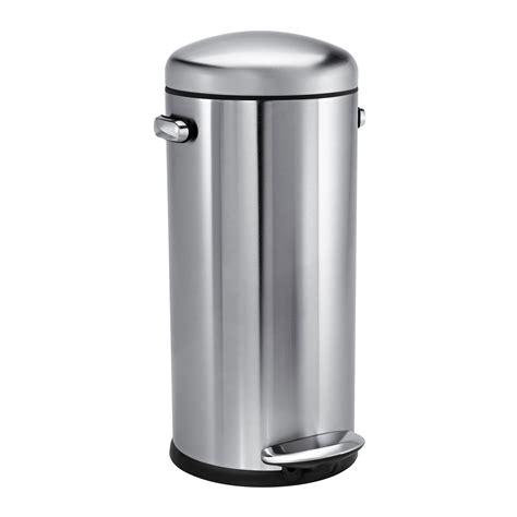 poubelle cuisine inox poubelle de cuisine à pédale 30 litres inox style rétro