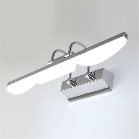 modern acrylic led mirror picture light fixture bathroom