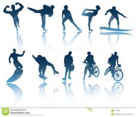 Sports & Fitness Silhouettes Royalty Free Stock Images - Image ... Sports Fitness