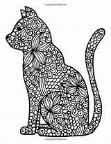 Mandala Coloring Pages Cat Getcolorings Adult Printable Demet Kurt sketch template