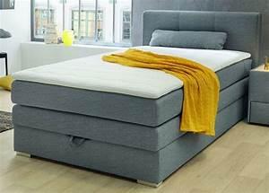Lit 120 200 : lit boxspring 120 x 200 cm eve ton gris sb meubles discount ~ Teatrodelosmanantiales.com Idées de Décoration