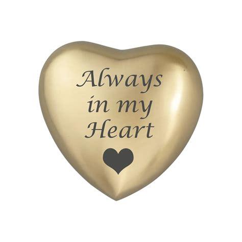 brass bedside always in my golden urn keepsake for ashes