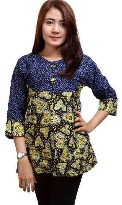 contoh model baju batik remaja terbaru