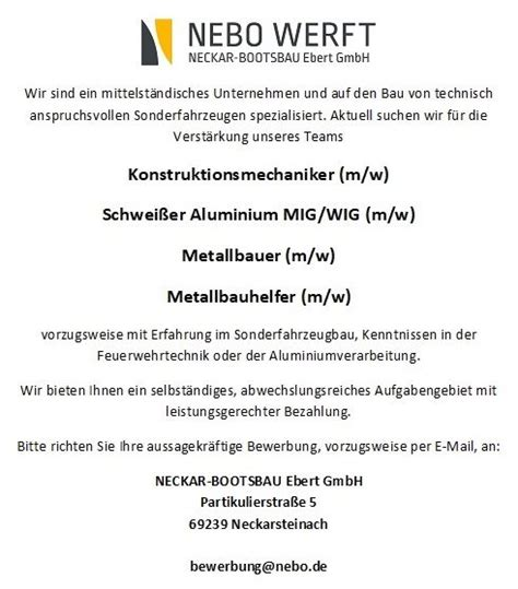 Neckar Bootsbau Ebert GmbH Home Facebook