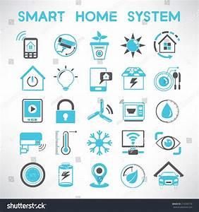 Smart Home Systems : smart home icons set home automation stock vector 214556719 shutterstock ~ Frokenaadalensverden.com Haus und Dekorationen