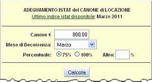 Un'applicazione per calcolare facilmente l'adeguamento ISTAT