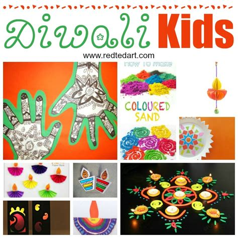kids diwali ideas crafts red ted art  crafting