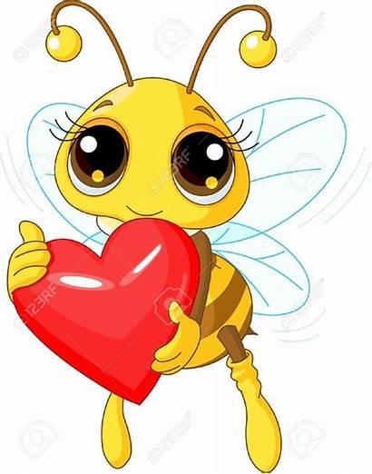 Bee Cartoon Bumble Drawing Heart Clipart