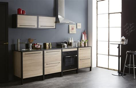 meuble de cuisine noir et blanc cuisine blanc chene