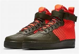 Nike SF-Air Force 1 Mid Khaki Crimson Release Details ...
