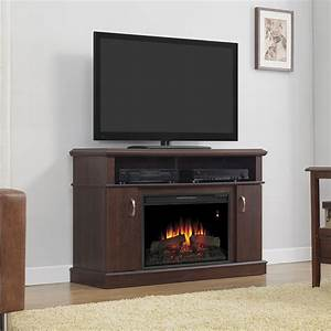 Dwell Electric Fireplace Entertainment Center in Midnight ...