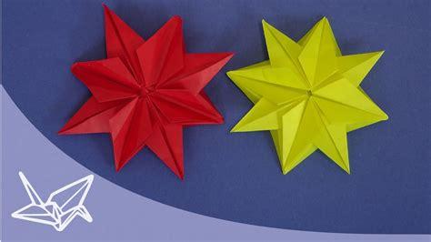 origami stern fuer weihnachten faltanleitung youtube