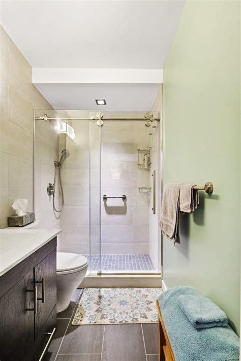 windowless bathroom   modern overhaul