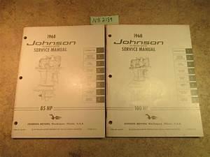 1968 Johnson Evinrude Outboard Service Manual Year Set 1 5