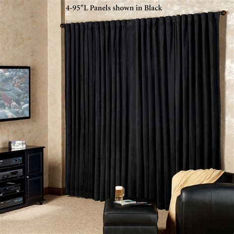 studio wall divider absolute zero eclipse home theater blackout curtain panels