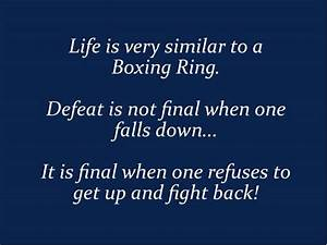 Girl Boxing Quo... Fight Boxing Quotes