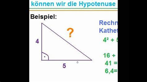 A Berechnen satz des pythagoras hypotenuse berechnen erl 228 uterung 1