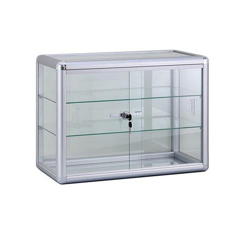 glas schiebetür abschliessbar alu glas vitrine mini vitrine glas box abschlie 223 bar mit