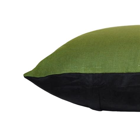 linen olive green cushion 45x45cm hupper