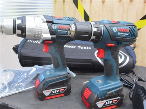 bosch gsb 18ve 2 li combi impact drill gsr 18 2 li plus drill driver with battery and charger