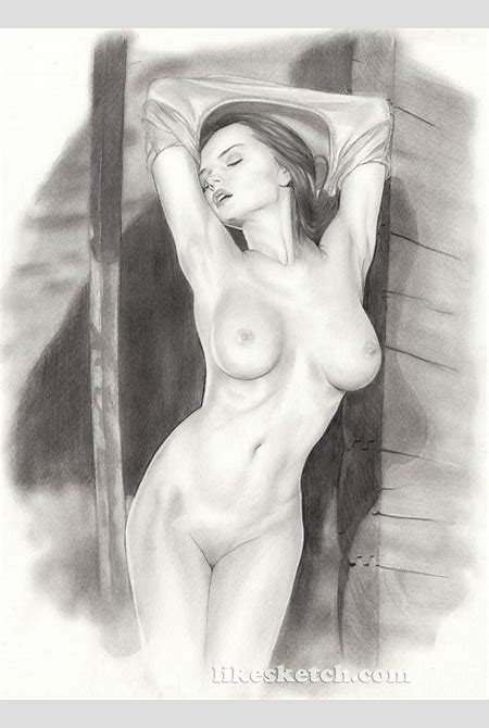 Nude fuck pencil sketch hentai image