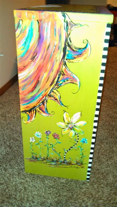 Carolyn's Funky Furniture Fun Bookcase Painted