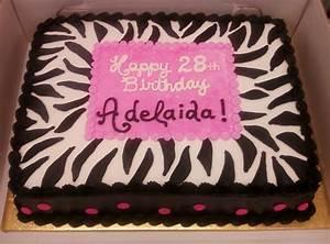 Zebra Print Sheetcake - CakeCentral com