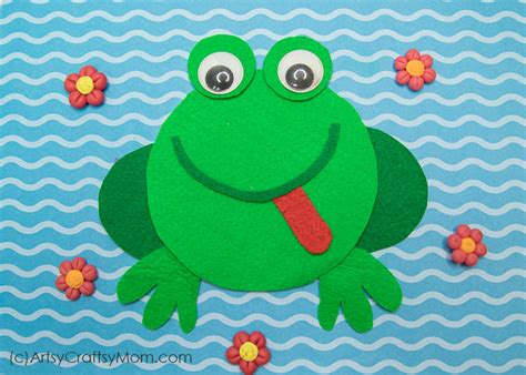 f for frog craft with printable template artsy craftsy 804   F for Frog Cd Craft 3945