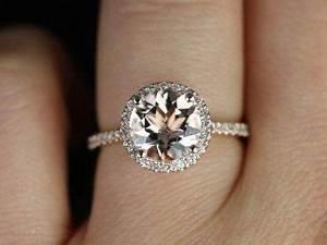 Tiffany Ring Verlobung : sweetheart gr e kubian 14kt rose gold und diamanten morganit runde halo verlobungsring andere ~ Orissabook.com Haus und Dekorationen