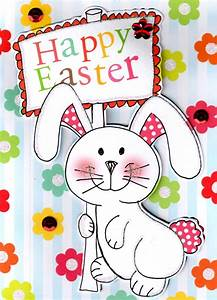 Happy Easter Cute Easter Bunny Card | Cards | Love Kates