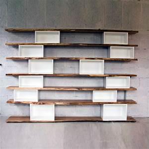 Caisson Bibliotheque Modulable : biblioth que ch ne brut et caissons blancs par antoine m ~ Edinachiropracticcenter.com Idées de Décoration
