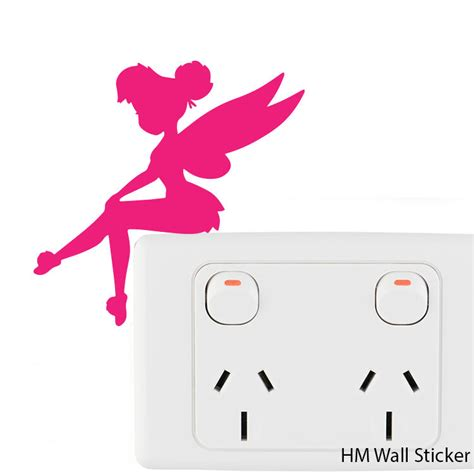 4 fairies light switch stickers removable wall stickers vinyl decal ebay