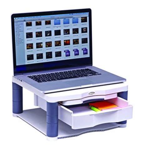 rehausseur ordinateur bureau support 4 pieds fellowes pour moniteur ou ordinateur