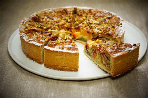 recette de la tarte aux p 234 ches jaunes et pistaches avec p 226 te maison