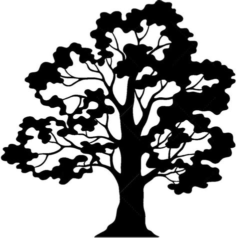 oak tree clipart black and white oak tree silhouette ornament 12 black and white