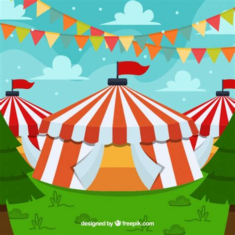 Circus Background Circus Tent Background Vector Free